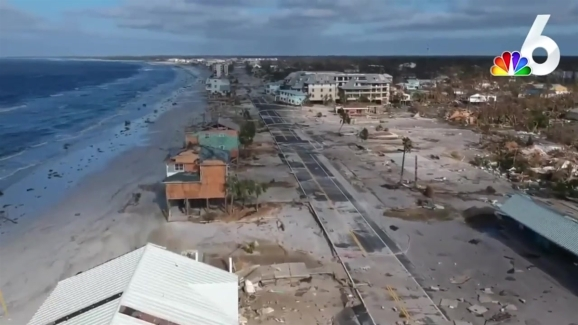 New Drone Video Shows Hurricane Michael Damage In Mexico Beach
