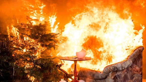 Christmas Tree On Fire.5 Tips For Preventing A Christmas Tree Fire