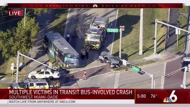 [MI] 14 Reported Injured in Crash Involving Miami-Dade Bus