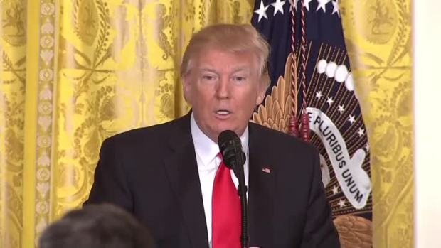 [NATL] NBC Journalist Fact Checks Trump During Presser