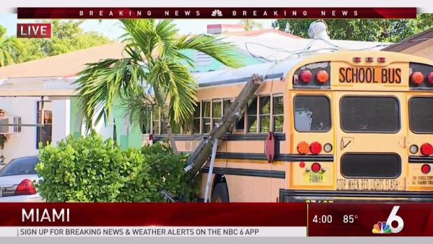2 Injured After School Bus Involved in Crash in Miami - NBC