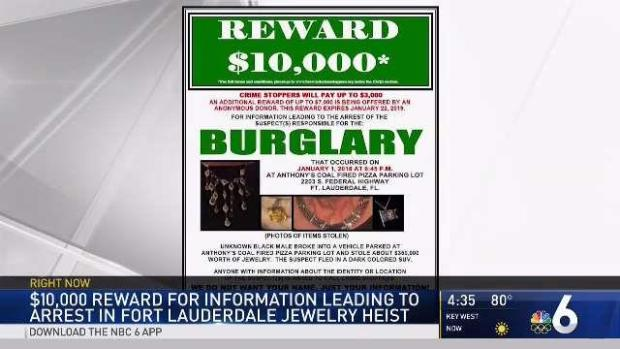 $350,000 in Jewelry Stolen From Car in Fort Lauderdale