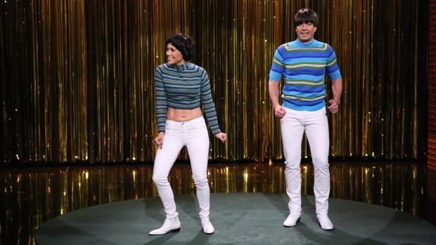 "[NATL] Jimmy Fallon, Jennifer Lopez Battle Over ""Tight Pants"""