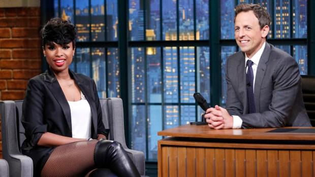 [NATL] Meyers: Jennifer Hudson Talks About Her Dancing Son