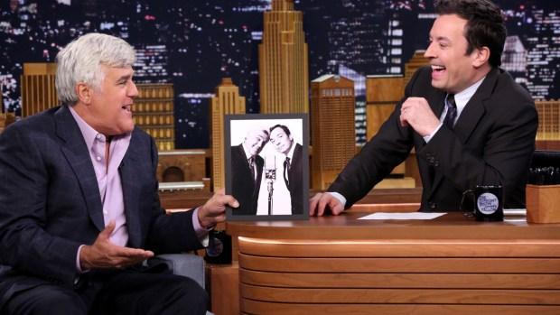 """[NATL] Jimmy Fallon and Jay Leno Look Back at Photo Shoots on """"Tonight"""""""
