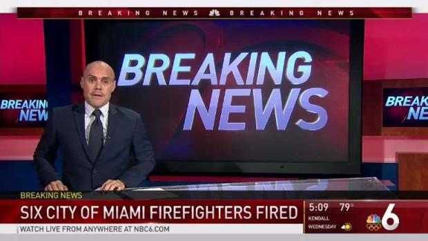 [MI] 6 City of Miami Firefighters Fired