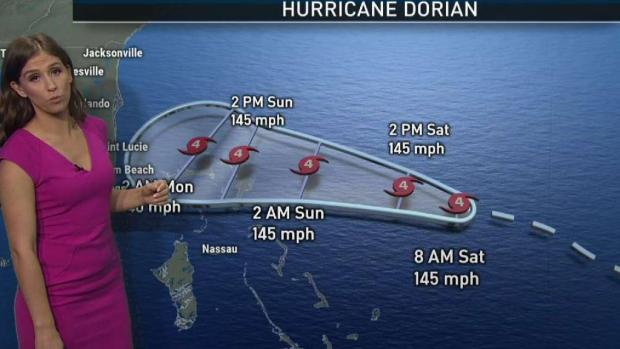 Hurricane Dorian 8 AM Intermediate Advisory