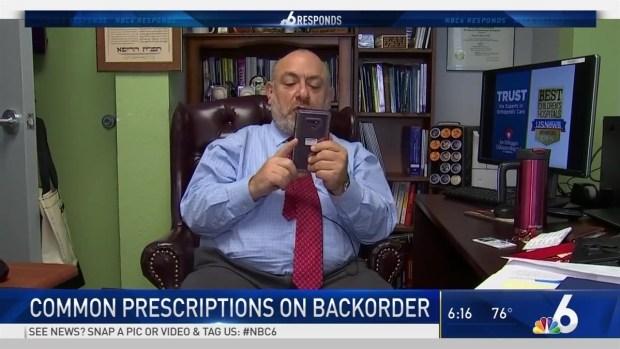 [MI] Common Prescriptions on Back Order | NBC 6