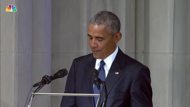 [NATL] President Obama: It Was McCain's 'Instinct' to Stand Up For All Americans