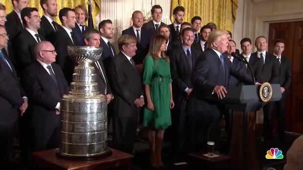 Trump welcomes college sports champions at WH reception