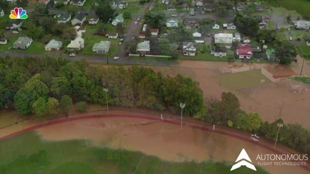 [NATL] Drone Footage Shows Flooding in Salem, Va.