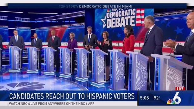 [MI] Dems Courting Hispanic Vote During Miami Debates