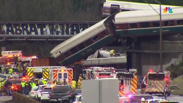 [NATL] RAW VIDEO: Amtrak Train Derails in Washington