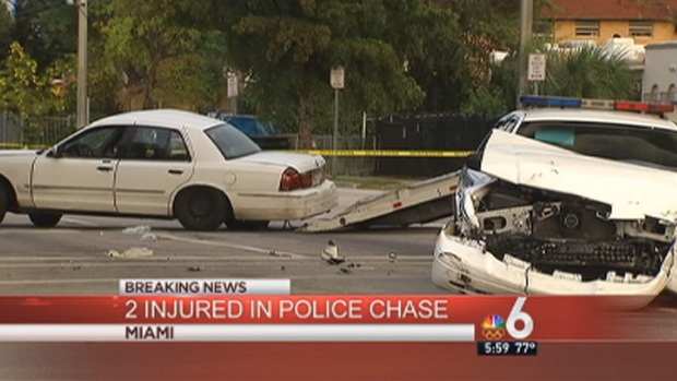 [MI] Officer, 2nd Driver Injured in Crash Related to Downtown Miami Chase: Authorities