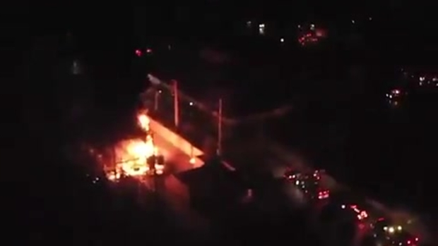 [MI] Drone Video of FPL Substation Fire