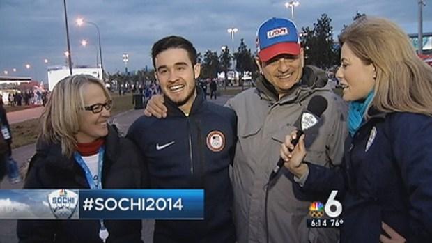 [MI] Olympic Speed Skater Eddy Alvarez's Mom Cheers Him on in Unique Way