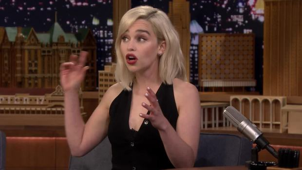 [NATL] 'Tonight': Emilia Clarke's Embarrassing Wookiee Impression