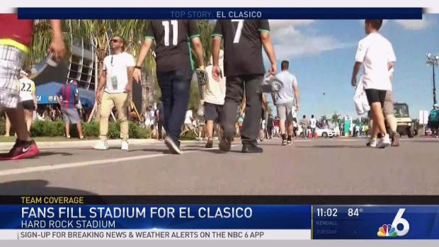 Fans Fill Stadium for El Clasico Miami