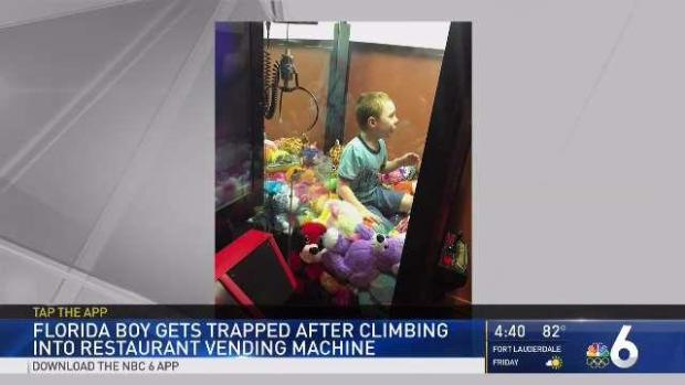 Florida Boy Gets Stuck in Claw Vending Machine
