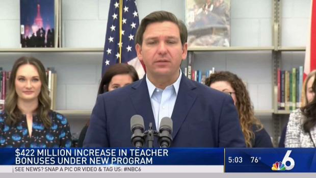 [MI] Florida Governor Pushes for New Teacher Bonus Program