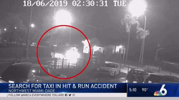 Footage Shows Man Struck by Taxi in Dade Hit-and-Run