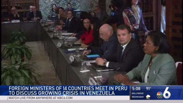 [MI] Foreign Ministers Discuss Growing Crisis in Venezuela