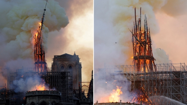 [NATL] Landmark Notre Dame Cathedral Burns in Paris