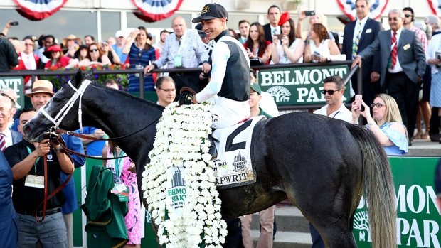 Tapwrit Takes the Belmont Stakes