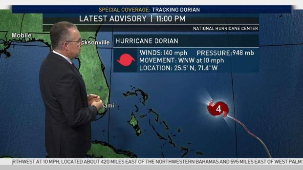 Dorian Strengthens to Category 4 Hurricane Ahead of Possible