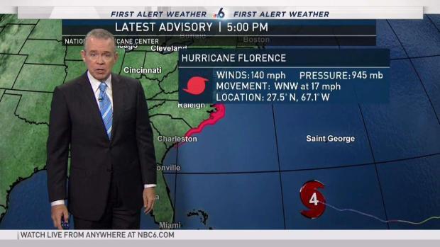[MI] Hurricane Florence 5 PM Update - September 11
