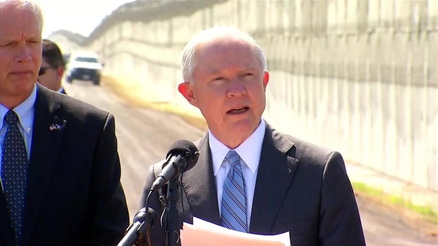 Atty. Gen. Sessions, DHS Sec. Kelly Tour Border Territory