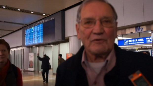 [BAY] RAW VIDEO: Merrill Newman at Beijing Airport