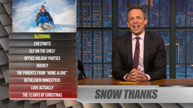 [NATL] 'Late Night': Ya Burnt? Sledding, Bethlehem Innkeepers