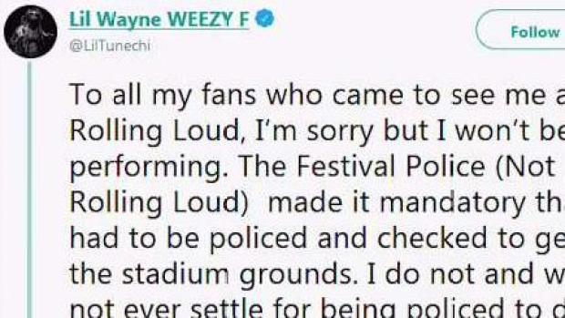 [MI] Lil Wayne Refuses to Perform at Rolling Loud