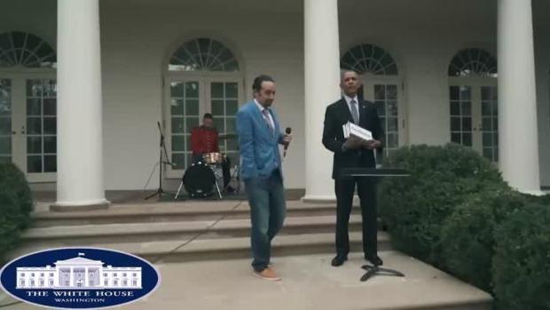 [NATL] 'Hamilton' Star Freestyles at White House