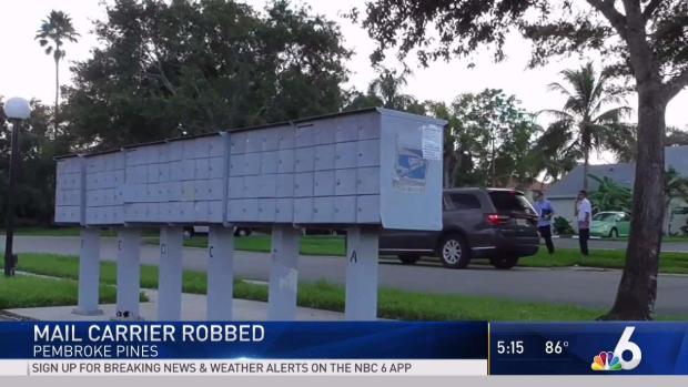 [MI] Mail Carrier Robbed in Pembroke Pines