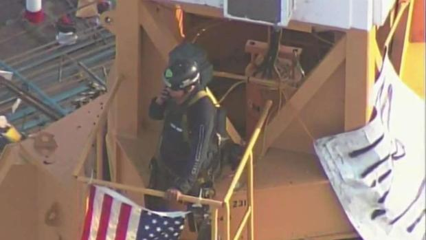 [MI] Man Arrested After Climbing Crane Near Site of Trump Speech