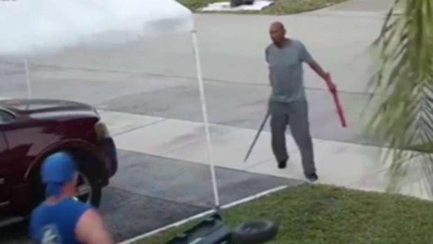 [MI] Man Swings Sword During Trash Pile Dispute