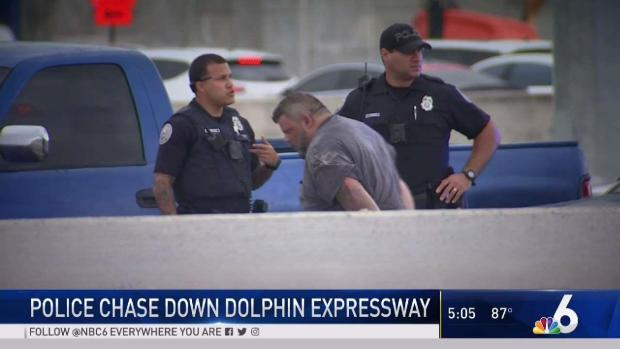 [MI] Man in Custody After Police Chase on Dolphin Expressway