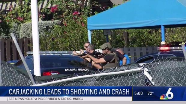 [MI] Miami Beach Car Theft Leads to Fatal Shooting and Crash