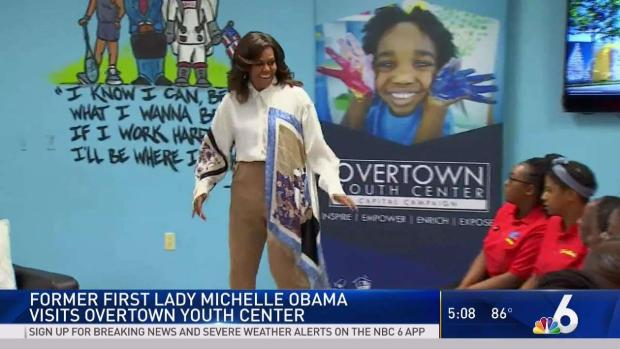 [MI] Michelle Obama Visits Overtown Youth Center