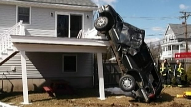 [NEWSC] No Parking! SUV Slams Into Home