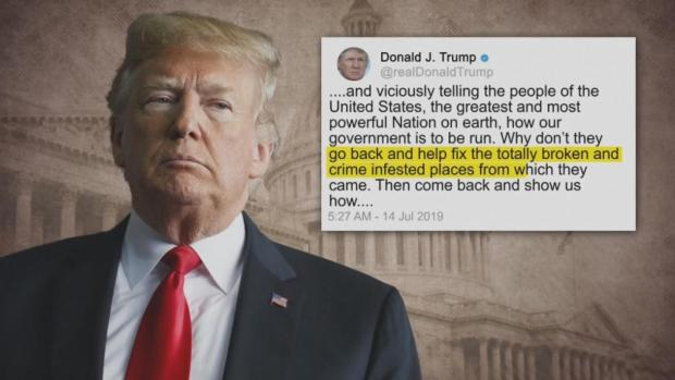 [NATL] 'Go Back': Trump Tweets at Congresswomen of Color