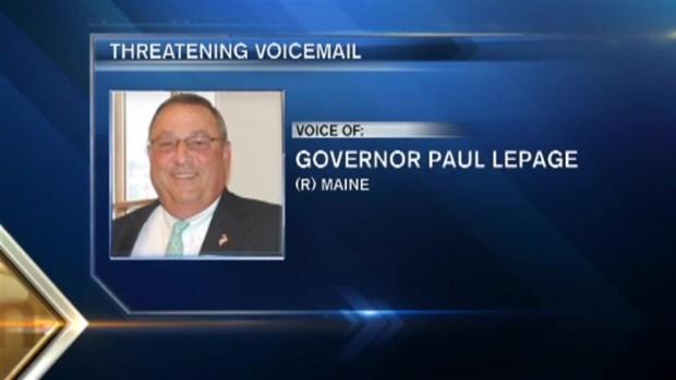 [NECN] Maine Gov. Leaves Obscene Tirade on Lawmaker's Voicemail