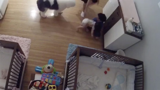 [NATL] Older Brother Saves Baby From Changing Table Fall