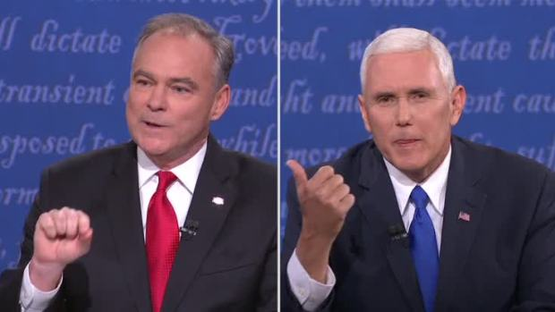 Pence, Kaine Talk Over One Another Repeatedly at VP Debate