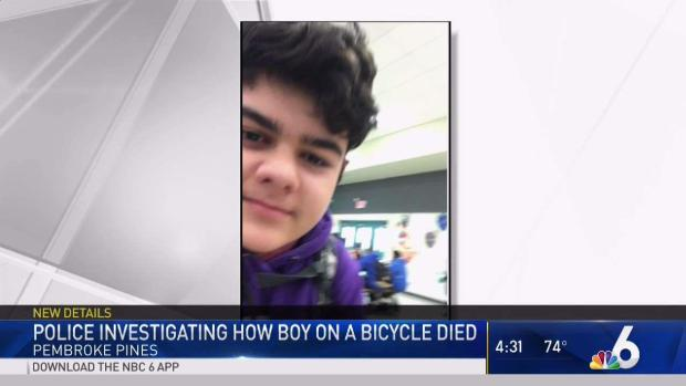 [MI] Police Investigating How Boy on Bicycle Died in Pembroke Pines