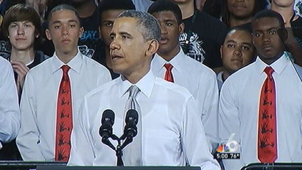 [MI] President Obama, First Lady Speak at Southwest Miami-Dade School