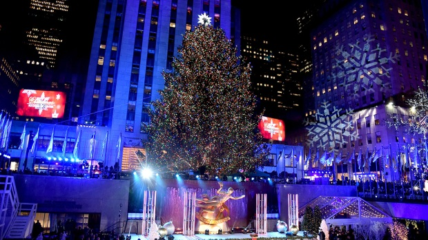 Holiday Magic: Rockefeller Center Christmas Tree Lights Up