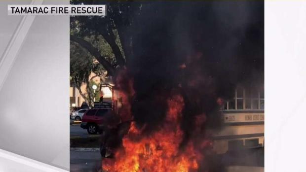 [MI] School Bus Catches Fire in Tamarac